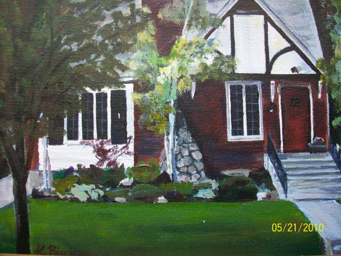 Artist Kate Birch would love to paint your house for you or for a gift for someone special.