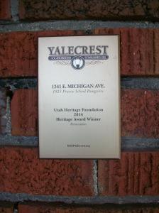 Utah Heritage Foundation Heritage Award Winner for renovation