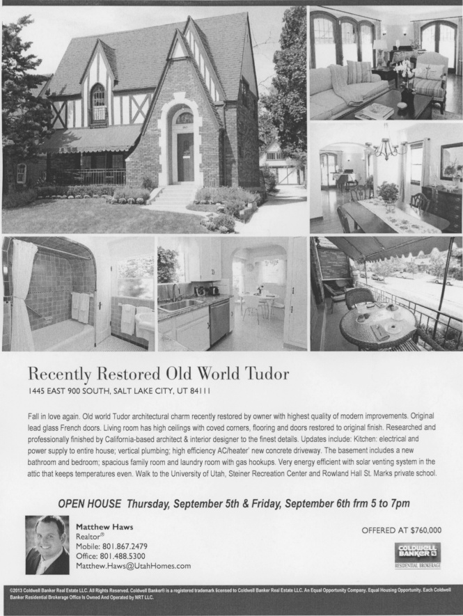 Tudor for Sale flyer