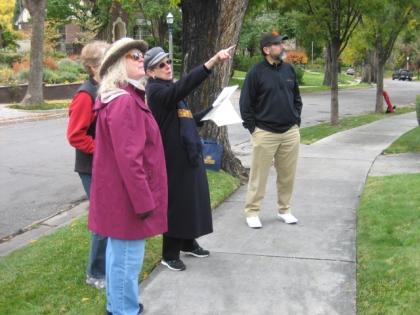 Susan with tour participants.