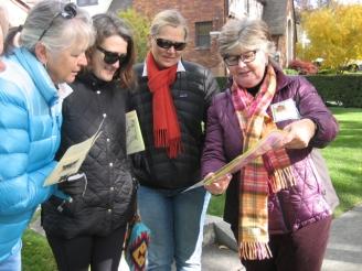 Kathleen and tour participants.